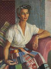 Sale 8773 - Lot 538 - Douglas Dundas (1900 - 1981) - Portrait of a Lady 99.5 x 74cm