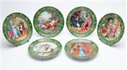 Sale 8873A - Lot 34 - A set of six limoges collectors plates with scenes from Napoleon and Josephines life