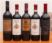 Sale 8891H - Lot 67 - Five bottles of European wine, to include two Chiantis