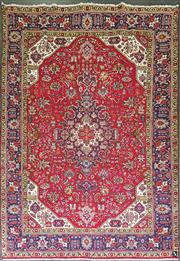 Sale 8962 - Lot 1062 - Red Tone Persian Tabriz (305 x 210cm)