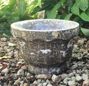 Sale 9015G - Lot 46 - Carved Marble Planter . General Wear.Size:38cm D x 26 cm H, General Wear