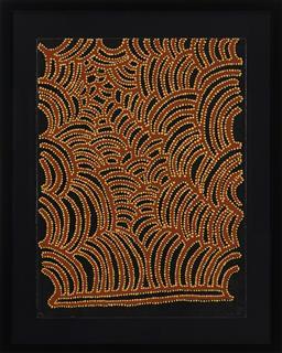 Sale 9221JM - Lot 5088 - GLORIA PETYARRE (1936 - ) Untitled screenprint, ed. P.P 76.5 x 56.5 cm (frame: 97 x 77 x 4 cm) initialled lower right