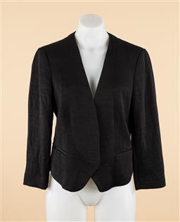Sale 9250F - Lot 25 - A Marcs black linen mix bolero jacket, size 12.