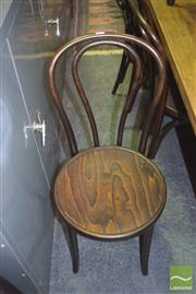 Sale 8390 - Lot 1219 - Set of 8 Thornet Bentwood Chairs in Brown