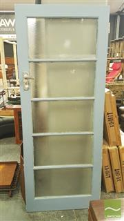 Sale 8392 - Lot 1070 - Timber Frame Frosted Glass Insert Door (Working Order)