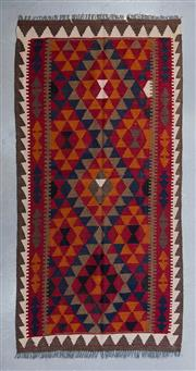 Sale 8493C - Lot 50 - Afghan Maymana Kilim 202cm x 107cm