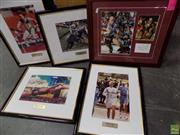 Sale 8578T - Lot 2096 - Box of Sporting Memorabilia Framed Pictures