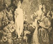 Sale 8652A - Lot 5065 - Norman Lindsay (1879 - 1969) - Priestess of the Magi 22.5 x 27.5cm (sheet size: 34.5 x 39cm)