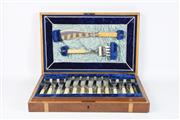 Sale 8747 - Lot 76 - Cased Fish Knives And Forks Including Set