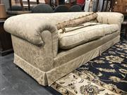 Sale 8822 - Lot 1141 - Oversized Brocade Upholstered 2 Seater Sofa in Gold