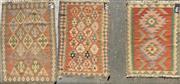 Sale 8863 - Lot 1085 - Persian Kilim Mats x 3 (85 x 59cm)