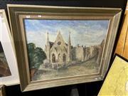 Sale 8878 - Lot 2092 - William Drew - Church in Paddington, oil SLR, 59.5x75