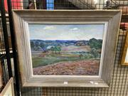 Sale 8927 - Lot 2058 - Artist Unknown Country Scene with Cottage oil (AF), 55 x 66cm, initialled and dated
