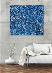 Sale 8998A - Lot 5004 - Rosemary (Pitjara) Petyarre (c1965 - ) - Yam Leaf Dreaming 85 x 95 cm (stretched and ready to hang)