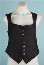 Sale 9071F - Lot 79 - A CHARCOAL DEBRA HILL vest size S