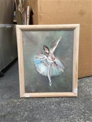 Sale 9091 - Lot 2085 - P. Wilson Ballerina, oil on board, frame: 50 x 40 cm signed lower right