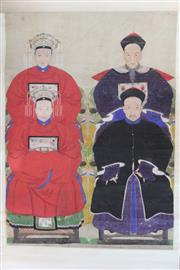 Sale 8407 - Lot 85 - Chinese Handpainted Ancestor Scroll