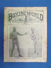 Sale 8419A - Lot 34 - Boxing World - a box of over 100 copies of Boxing World / Mirror of Life 1909-1917, including some Jack Johnson covers