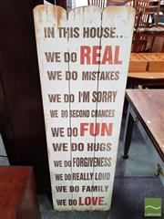Sale 8480 - Lot 1057 - Motivational Sign