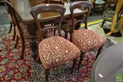 Sale 8545 - Lot 1056 - Set of Six Victorian Mahogany Dining Chairs with Turned Legs