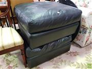 Sale 8629 - Lot 1081 - Pair of Leather Upholstered Ottomans