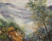 Sale 8642A - Lot 5075 - David Voigt (1944 - ) - Mountains from the Corryong Side, 1997 46 x 60cm