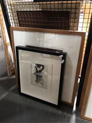Sale 8816 - Lot 2032 - 2 Works: Artist Unknown - Cattleya Intermedia, etching, SLL & Gum Tree