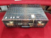 Sale 8826 - Lot 1049 - Faux Crocodile Skin Briefcase