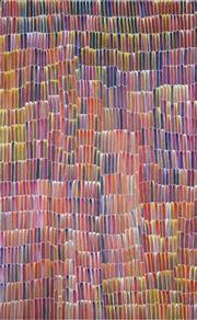 Sale 8895A - Lot 5015 - Jeannie Mills Pwerle (1965 - ) - Bush Yam 155 x 96 cm