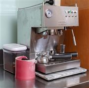 Sale 8891H - Lot 57 - An Ascaso coffee machine in stainless steel with assorted accessories