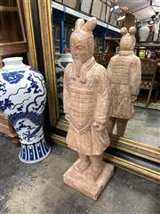 Sale 8896 - Lot 1010 - Large Replica Chinese Terracotta Warrior H.110cm