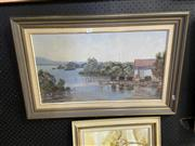 Sale 8927 - Lot 2075 - Jane Hall - Where the Oysters Grow oil on canvas on board, 50 x 75cm, signed lower left