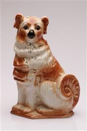 Sale 9049 - Lot 93 - Staffordshire figure of a dog (H33cm)