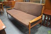 Sale 8338 - Lot 1066 - Vintage Fleur Click-Clack Three Seater Lounge
