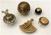 Sale 8436A - Lot 58 - A group of novelty boxes including a globe and fan etc.