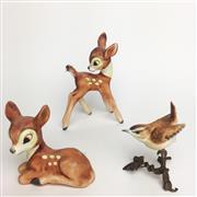 Sale 8456B - Lot 3 - Hummel Figure of a Bird & Two Deers