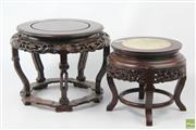 Sale 8603 - Lot 3 - Chinese Rosewood Pedestals (2)