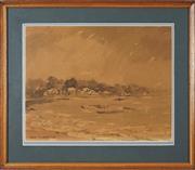 Sale 8762 - Lot 2052 - Robert Richmond Campbell (1902 - 1972) - Snails bay, Sydney Harbour, 1950 32 x 41cm
