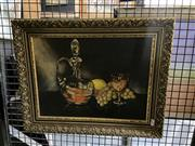 Sale 8927 - Lot 2015 - Pauline Reeves - Still Life with Grapes oil on canvas on board, 29 x 39cm, signed -