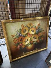 Sale 8927 - Lot 2065 - Vintage Still Life, acrylic painting by Unknown Artist