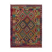 Sale 9020C - Lot 46 - Afghan Maymana Kilim Rug, 180x245cm, Handspun Wool