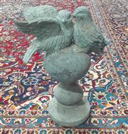 Sale 9071 - Lot 1055 - Spelter Figure of Birds on Stand
