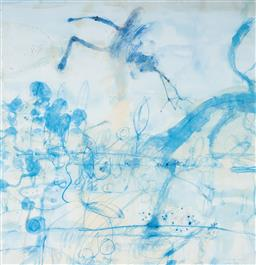 Sale 9112A - Lot 5048 - John Olsen (1928 - ) - Morning at the Lily Pond, 1997 64 x 61.5 cm (frame: 93 x 84 x 4 cm)