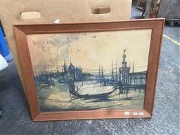 Sale 9101 - Lot 2065 - A Retro Print on Canvas by Regis de Bouvier De Cachard 54 x 69cm
