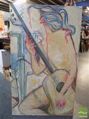 Sale 8407T - Lot 2092 - Alberto Alberti (XX) - The Guitarist, 1993 100 x 74cm