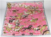 Sale 8441 - Lot 83 - Hermes Silk Scarf Ors Nomades