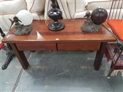 Sale 8676 - Lot 1386 - Timber Coffee Table with Two Drawers