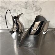 Sale 8782A - Lot 93 - A Georg Jensen  Ïndulgence wine cooler and pitcher Height of taller 28.5cm