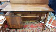 Sale 8822 - Lot 1062 - Desk with Locking Cabinet and Two Drawers