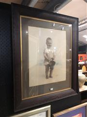 Sale 8824 - Lot 2075 - Framed Photo of Child